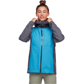 Black Diamond Highline Shell Jacke Damen fjord blue-anthracite